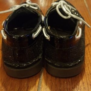 Sperry Shoes - Sperry Top-Sider Glitter Black Size 7.5